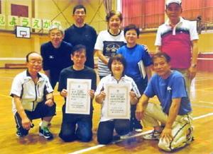 ミニテニス  佐賀市北川副校区ミニテニス大会の上位入賞者