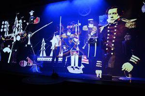 2番目の「技」からくり劇場では、佐賀の先進的技術と鍋島直正の思いを体感できる=佐賀市城内の幕末維新館