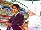 """初めて""""キツネ""""の結婚式 嫁入り行列再現 祐徳稲荷神社"""