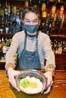 時短要請に合わせ、2月1~7日に期間限定でうどん店に業態変更するレストランバー「酔美」=佐賀市白山