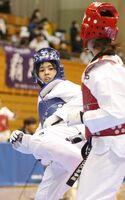 女子57キロ級で準優勝した山下唯(古賀道場)=大分県中津市のダイハツ九州アリーナ