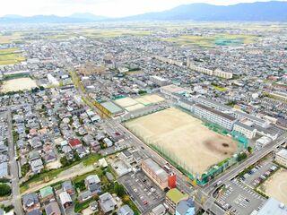<空さんぽ 学校のある風景(38)>佐賀北高校周辺