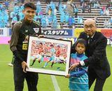 9月MVP FW田川を表彰