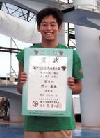 成年男子高飛び込み決勝 355・85点で8位に入賞した野口基勝(福山平成大)=盛岡市立総合プール