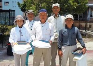 グラウンドゴルフ 第1回神埼市郡GG大会 上位入賞者