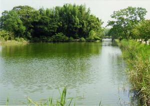 直鳥城跡に整備された直鳥クリーク公園