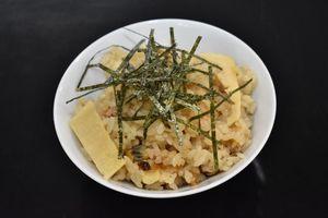 洋風アサリタケノコご飯
