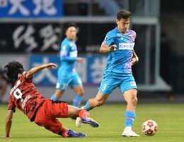 横浜M戦での活躍が期待されるDFエドゥアルド=9日の天皇杯2回戦、鳥栖市の駅前不動産スタジアム