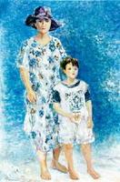 東の浜を舞台に描いた「潮騒」(2006年、120号)