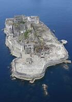 長崎市の端島(通称・軍艦島)