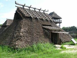 吉野ケ里の復元竪穴住居(王の家)
