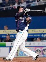 3回西武1死一塁、山川が左越えに2打席連続本塁打となる2ランを放つ=ZOZOマリン