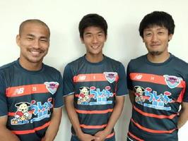 ゲストの福田晃斗選手(中央)を囲むMCの高橋義希選手(右)と吉田豊選手