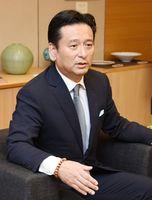 県民世論調査結果を受けての考えを話す山口祥義知事=佐賀県庁