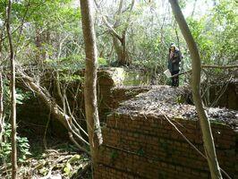 当時、炭坑としたは珍しかった浄水場の跡=唐津市北波多