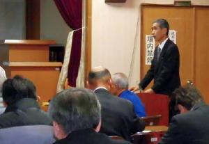 地元の偉人徳川権七の功績を伝えようと開かれた顕彰会=神埼市の脊振公民館