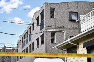 亡くなった小4女児の自宅があるマンション=1月26日、千葉県野田市
