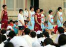 目標に向かう3年生を激励 致遠館、佐賀西で壮行会