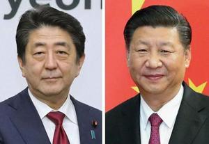 安倍晋三首相、中国の習近平国家主席