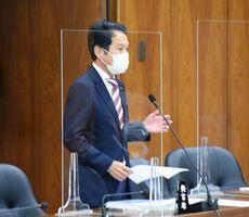諫早湾干拓事業の訴訟を巡り、国の姿勢を批判する大串博志議員=衆議院
