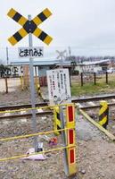事故後、周囲の雑木が伐採された現場の踏切=2月、茨城県筑西市