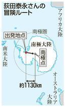 単独歩行で南極点目指しスタート