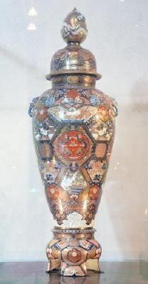 =時空を超えて=(10) 染錦金襴手丸紋鳳凰文様大花瓶