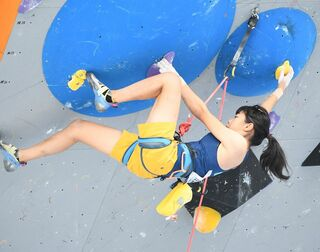 クライミング少年女子 樋口・渡島組7位 茨城国体