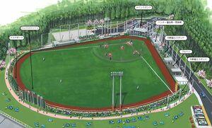 武雄市民球場の完成イメージ図