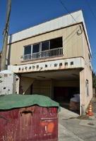 移住体験用住宅として整備中の旧消防団格納庫=基山町宮浦