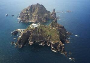 竹島上空で韓国軍が警告射撃