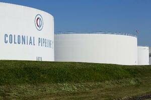 米コロニアルパイプラインの貯蔵タンク=ニュージャージー州(ロイター=共同)