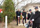 伊丹安廣さん、没後40周年で植樹式