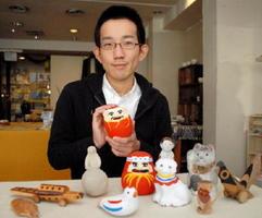 佐賀まちゼミで、郷土玩具の講座を開く城島正樹さん=佐賀市の佐賀一品堂
