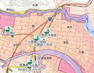 <10市10町・うちの防災マップ>鹿島市 市中心部で浸水懸念