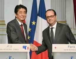 日仏首脳、原子力協力推進