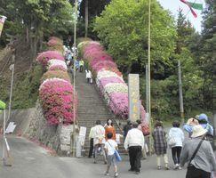 毎年「つつじまつり」が開かれている大興善寺。基山町歴史的風致維持向上計画の核の一つとなる=三養基郡基山町