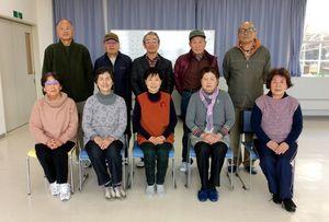 佐賀江北ビッキー支部スポーツ吹矢2月定例会の参加者