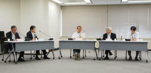 原子力規制委員会の定例会合=11日午前、東京都港区