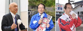3候補、激しい論戦 伊万里市長選