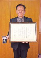 全国優秀警察職員表彰を受けた浦浩二警部=佐賀市の県警本部