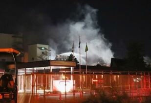 東洋紡の工場で火災、2人死亡