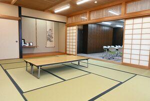 15畳の和室がある多目的室=神埼市千代田交流センター