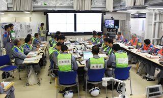 <佐賀県原子力防災訓練>冷却材漏れ想定 九電社員が対処確認