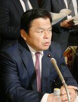 佐賀県が示した確認文書案について修正が必要との認識を示した赤羽国交相=国会内