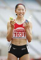 永石(佐賀北高)女子100メートルV U20日本選手権
