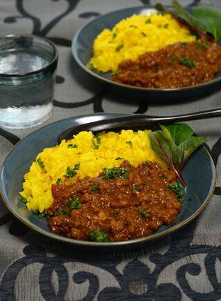 レシピ「舞茸とジンジャーの簡単キーマカレー」
