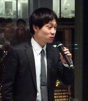 佐賀市の「暮らしやすさ」1位について解説する野村総研の波利摩星也副主任研究員=東京の大手町フィナンシャルシティグランキューブ