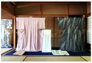 陣内久紹さんの手描京友禅の着物作品