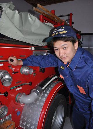 新入団員紹介(15)江北町消防団第1分団第1部 米田孝一郎さん 25歳